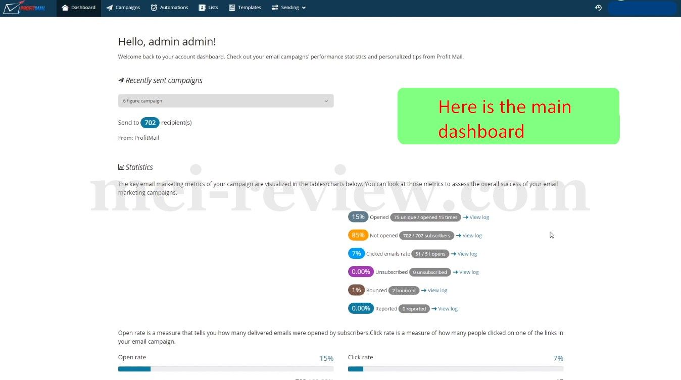 ProfitMail-Demo-2-Dasboard